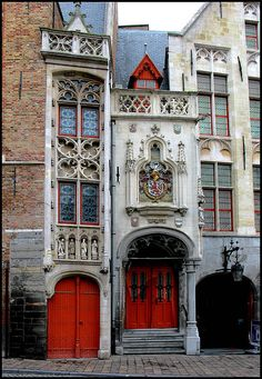 Doorway St-anna Bruges by Blackburn Luxembourg, Places To Travel, Places To Go, Cruise Destinations, Fantasy Castle, Living In Europe, Belle Villa, Place Of Worship, Travel Memories