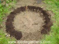 circular shape for bean teepee