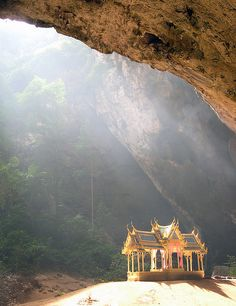 Phraya Nakhon cave with the Kuha Karuhas pavillion Sam Roi Yot National Park, Prachuap Khiri Khan Province, Thailand
