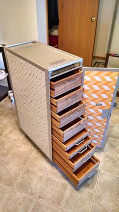 Mobile chest of drawers from an airline galley cart