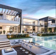 Haus in LA dream house luxury home house rooms bedroom furniture home bathroom home modern homes interior penthouse Luxury Rooms, Luxury Home Decor, Luxury Villa, Dream Home Design, Modern House Design, Luxury Modern House, Villa Design, Luxury Living, Modern House Exteriors