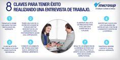 #TipsMicrosip Claves para tener éxito realizando una entrevista de trabajo.