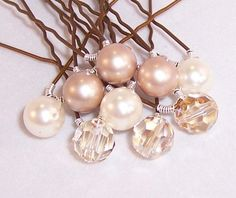 champaine bridal veil | Champagne Toast Bridal Veil Hair Pins with Swarovski by Saralibbey, $ ...