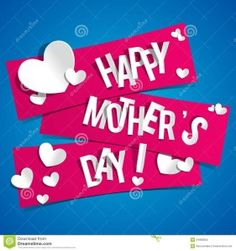 Illustration about Creative Happy Mothers Day Card with Hearts On Ribbons vector illustration. Illustration of heart, celebration, decoration - 34992953 Mothers Day Text, Mother Day Message, Mothers Day Poems, Mothers Day Images, Mothers Day Cards, Happy Mother's Day Card, Happy Valentines Day Card, Happy Mothers Day Wallpaper, Anniversary Greetings