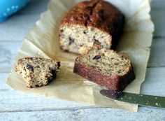Walnut banana bread sliced