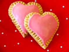 Raspberry Cream Cheese Heart Tarts on Weelicious