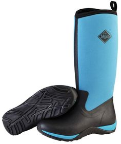 Muck Boots Women's Arctic Adventure Solids Winter Boot - Black/Blue (WAA-201) 1
