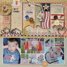 Sunshine & summertime...kind of cluttery, but lots of good ideas...addresses the theme well
