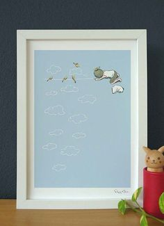 Flying Mouse 365 Selected Print - Realistic Line