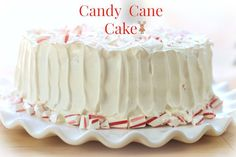This is nice to serve, even if it's not Christmas ;) Candy Cane Cake | Simply Bakings