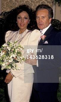 Diahann Carroll and husband Vic Damone