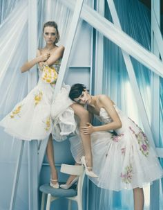 Lily Donaldson and Freja Beha Erichsen - Vogue UK
