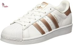 adidas Chaussures Gazelle Blanche BB5498, Blanc (FTWR White/FTWR White/Gold Met,), 38 EU