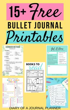 Totally FREE Bullet Journal Printable To Organize Your Life in 2020 The Ultimate list with over 15 totally free bullet journal printables designed to make your life easier through organization! Bullet Journal Dot Grid, Bullet Journal Hacks, Bullet Journal Printables, Bullet Journal Layout, Bullet Journal Ideas Pages, Bullet Journal Inspiration, Journal Pages, Bullet Journals, Planner Pages