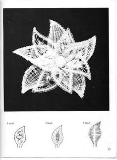 Resultado de imagen de picados de flores de bolillos gratis Crochet Lace Collar, Lace Knitting, Freestanding Lace Embroidery, Romanian Lace, Bobbin Lacemaking, Bobbin Lace Patterns, Techniques Couture, Lace Jewelry, Needle Lace