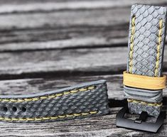 Grey Python with Custom Keepers  + Patina Stitching