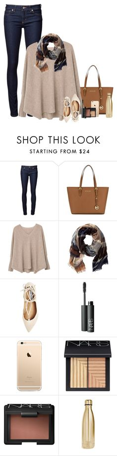 """""""Cozy!"""" by smiles-iv ❤ liked on Polyvore featuring Naked & Famous, MICHAEL Michael Kors, MANGO, TravelSmith, Steve Madden, NARS Cosmetics and S'well"""