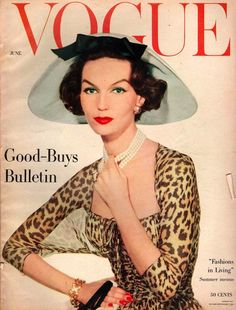 """Vogue"" COVER (Jun 1957) _____________________________ Reposted by Dr. Veronica Lee, DNP (Depew/Buffalo, NY, US)"