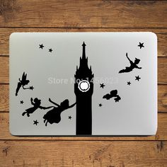 "Peter Pan & Wendy Off to Neverland Laptop Decal Sticker for MacBook Air/Pro/Retina 11"" 12"" 13"" Computer Mac Cover Notebook Skin"