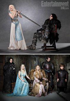 Game of Thrones (series 2011 - ) Starring: Emilia Clarke as Daenerys Targaryen, Kit Harington as Jon Snow, Lena Headey as Cersei Lannister, Nikolaj Coster-Waldau as Jaime Lannister, Peter Dinklage as Tyrion Lannister.