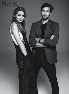 Olivia Palermo and her husband Johannes Huebl land the February 2015 issue from FLARE Magazine.