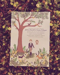 woodland wedding invitation ideas from Rifle Paper Co.    If you choose to do an outdoor wedding, this is so cute and different.