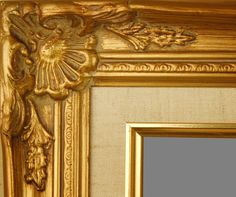 "PICTURE FRAME WOOD GOLD ORNATE LINEN WEDDING PHOTO CANVAS ART 2.75"" WIDE picclick.com"
