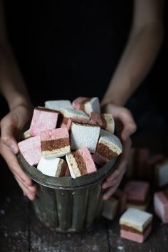 "theurbanposer: "" Neapolitan Marshmallows for the grain free, refunded sugar free Patisserie book. Ma Patisserie, coming fall 2014. www.theurbanposer.com """