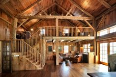 I want an open loft like this!