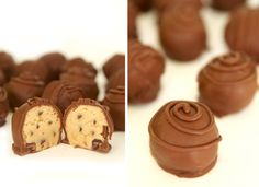Chocolate Covered Cookie Dough Balls