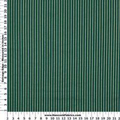 Christmas Stripe Green and Gold Cotton Fabric - Christmas
