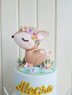 Content filed under the Custom Cakes category.Into the Prettiest Woods We Go Wild One Birthday Party, Baby Birthday Cakes, Woodland Theme Cake, Deer Cakes, Jungle Cake, Baby Girl Cakes, Fondant Animals, Animal Cakes, Partys
