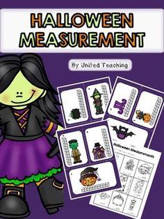 The Halloween Measurement learning center provides children with the opportunity to practise measuring Halloween objects using a standard unit of measurement. The activity contains measuring cards and a worksheet for recording answers.   I hope you enjoy this Halloween freebie.