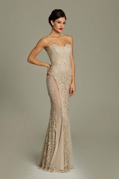 Strapless Jovani Lace Dress | Evening and party dresses ...