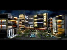 ▶ Architectural Rendering-Night Scene (Timelapse Photoshop) - YouTube