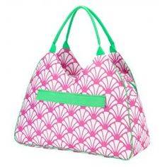 Monogrammed Beach Bag (Color: Shelly)