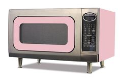 """Available in all of the great Big Chill colors with or without legs, The Big Chill Microwave features sensor settings - adjust the right time and power levels automatically for 9 popular microwave favorites including popcorn and fresh vegetables. Keep Warm Plus - lets you keep hot foods hot up to 30 minutes after cooking is finished. Three Reheat Options Four Defrost Options Kitchen Timer Built-in Night Light 16"""" Diameter Turntable Shown in Pink Lemonade."""