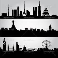 şehir silüetleri vektörel ile ilgili görsel sonucu