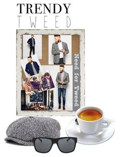 """""""Trendy Tweed - Man"""" by shistyle ❤ liked on Polyvore featuring Noose & Monkey, ASOS, Stetson, Orlebar Brown, mens, men, men's wear, mens wear, male and mens clothing"""