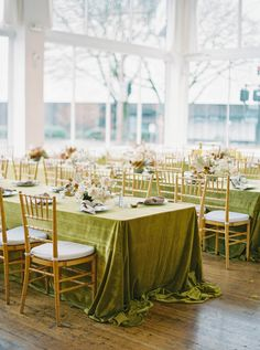 Velvet Tablecloth Olive Green Wedding Decor Ideas - Wedding Photography | Photographer | Portland OR