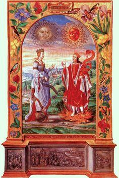 Splendor Solis (1582). Figura 4. Es considerado uno de los tesoros más valiosos de la British Library de Londres, conservado, bajo la signatura Harley 3469.