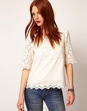 Whistles Milly Embroidered Top