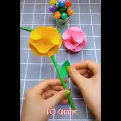 Creative ideas about paper crafts. Cute Crafts, Crafts For Kids, Arts And Crafts, Paper Art, Paper Crafts, Diy Stuff, Craft Videos, Creative Ideas, Bullet Journal