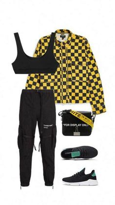 Checkered jacket outfit black pants outfit vans outfit grunge fashion black checkered fashion grunge jacket outfit pants vans all the summer items i bought because of Vans Outfit, Black Pants Outfit, Stage Outfits, Kpop Outfits, Girl Outfits, Fashion Outfits, Fashion Ideas, Teenage Outfits, Retro Outfits