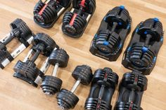 A set of adjustable dumbbells is wonderful for building strength. The best adjustable dumbbells are compact, adaptable and great for home gyms. Adjustable Weight Dumbbells, Adjustable Dumbbell Set, Adjustable Weights, Dumbbell Set With Rack, Dumbbell Rack, Dumbbell Workout, Bowflex Dumbbells, Weights Dumbbells, Paar Workout