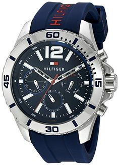 Tommy Hilfiger Mens 1791142 Cool Sport Analog Display Quartz Blue Watch >>> Want additional info? Click on the image. (Note:Amazon affiliate link) #CoolandAffordableWatches