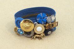 Detroit Lions Blue Zipper Bracelet. $22.00, via Etsy.