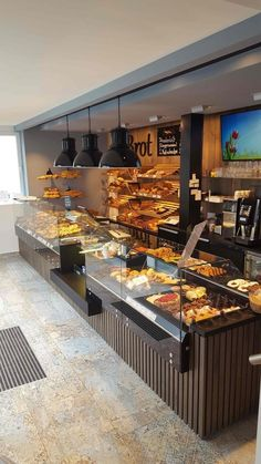 59 Ideas Design Cafe Counter For 2019 Bakery Shop Interior, Bakery Shop Design, Cafe Interior Design, Coffee Shop Design, Restaurant Design, Deco Restaurant, Bakery Store, Bakery Cafe, Cafeteria Vintage