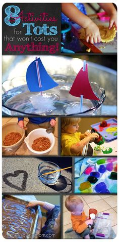 8 fun activities for tots (that won& cost you anything!) 8 fun activities for tots (that wont cost you anything! Craft Activities For Kids, Infant Activities, Projects For Kids, Crafts For Kids, Summer Activities, Toddler Play, Toddler Crafts, Kids Playing, Little Ones