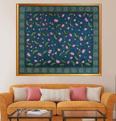 Pichwai Paintings, Indian Art Paintings, Home Decor Paintings, Landscape Paintings, Pond Painting, Hand Painting Art, Diy Painting, Diy Canvas Art, Wall Canvas